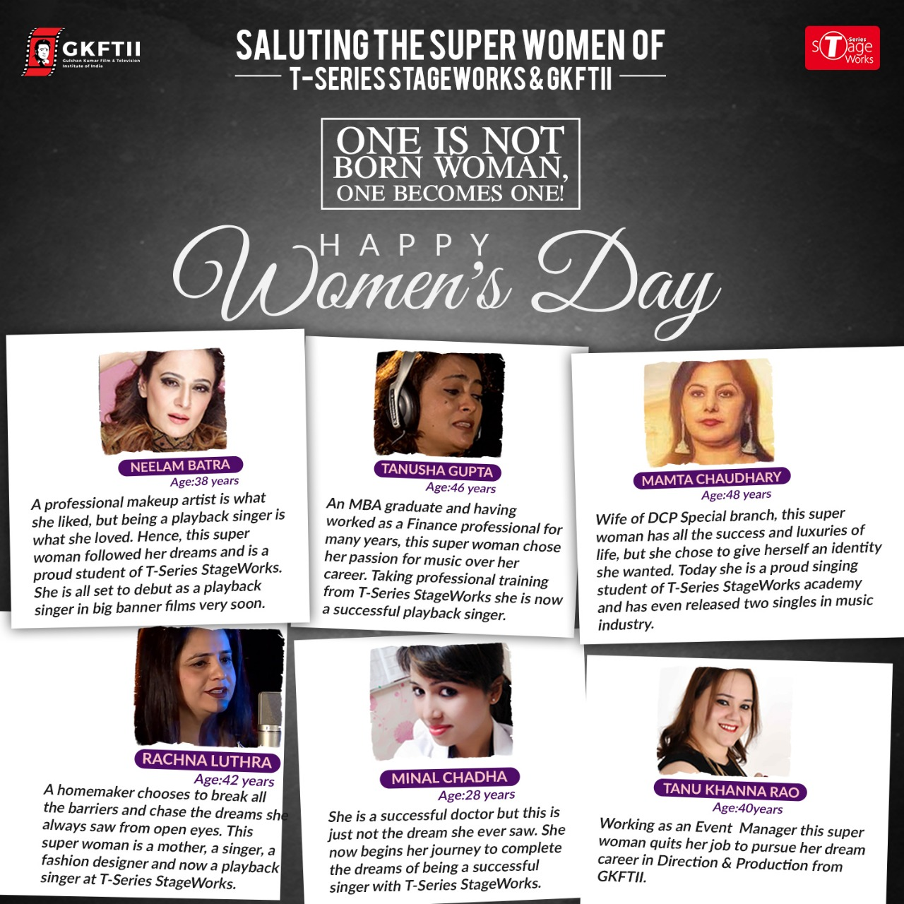 SALUTING THE SUPER WOMEN OF T-Series StageWorks Academy & GKFTII