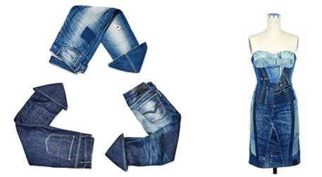 OLD DENIM GETS NEW LIFE-Recycle, Reuse & Reduce
