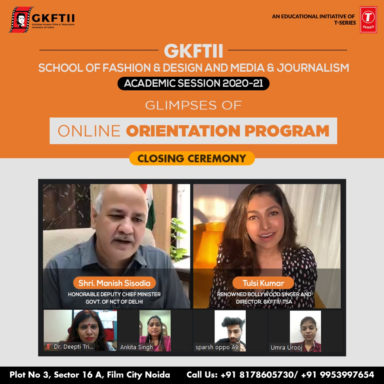 Closing Ceremony of a weeklong Online Orientation Program of Fashion & Journalism