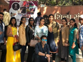 "GKFTII-School of Fashion & Design students visit in ""Craft Museum & Delhi  haat"
